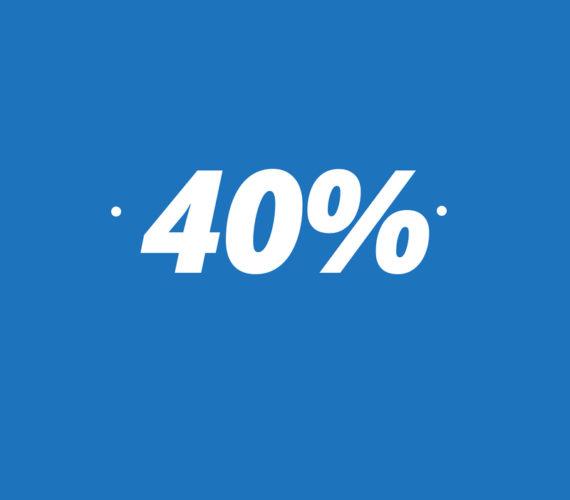 40% descuento en larga estancia