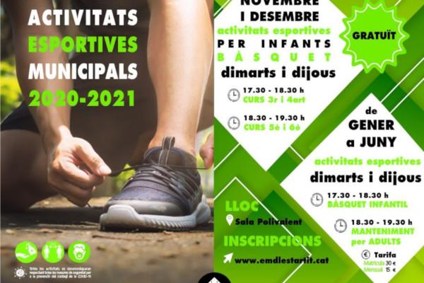 Actividades deportivas municipales en l'Estartit 2020-2021 – Noviembre 2020
